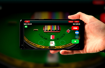 Blackjack on the go playing mobile at large